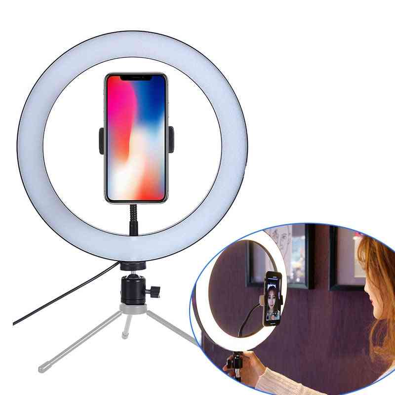 New Led Ring Flash Lights With Holder For Smartphone