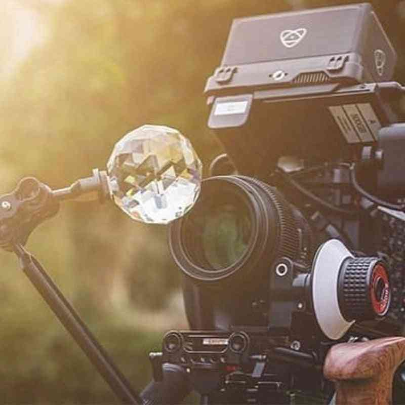 Crystal Ball With 1/4'' Screw Beam For Prism Photography-splitting Kaleidoscope Lens Filter