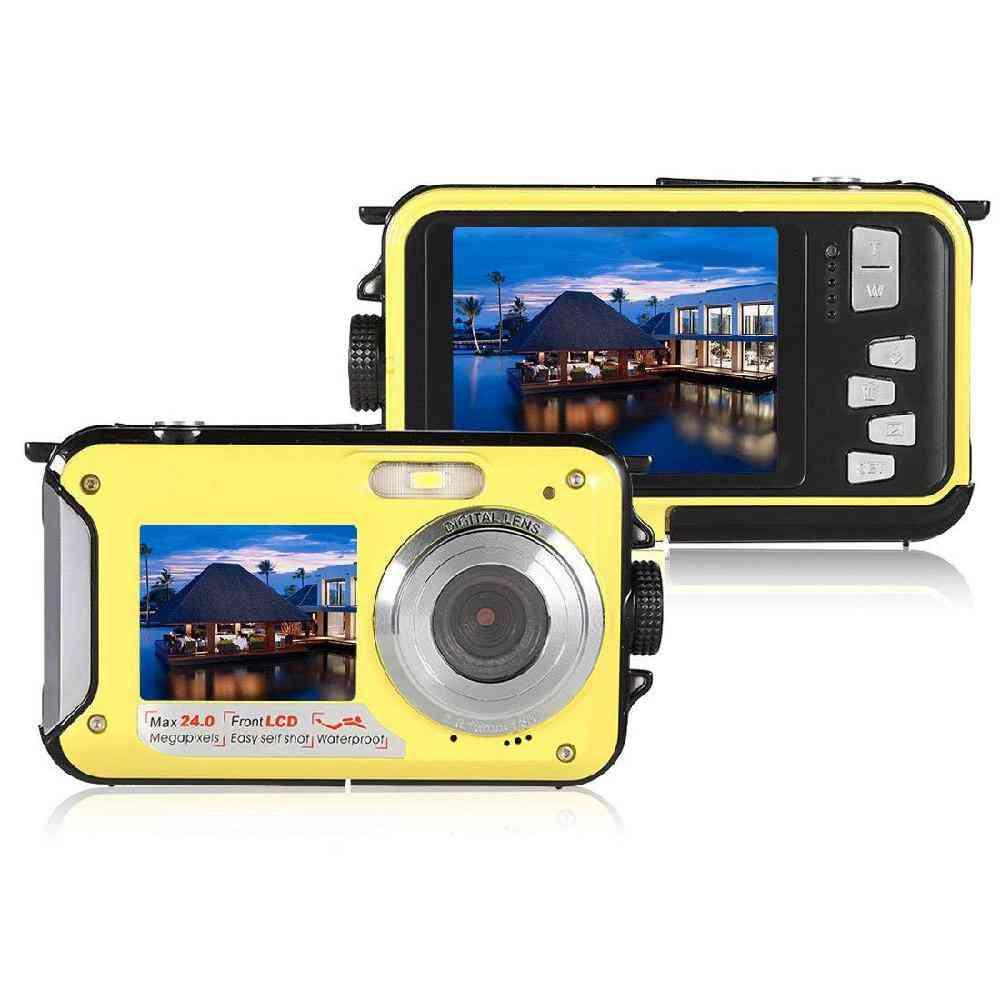 Waterproof, Full-hd, 24 Mp-dual Screen Digital Camera
