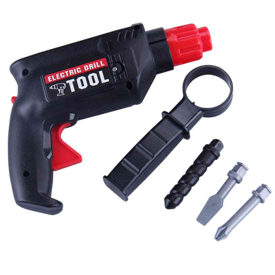 Children Plastic Simulation Maintenance Tool Repair Electric Drill Tool Early Development Education For