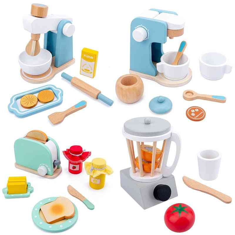 Wooden Kitchen Pretend - Baby Early Learning Educational