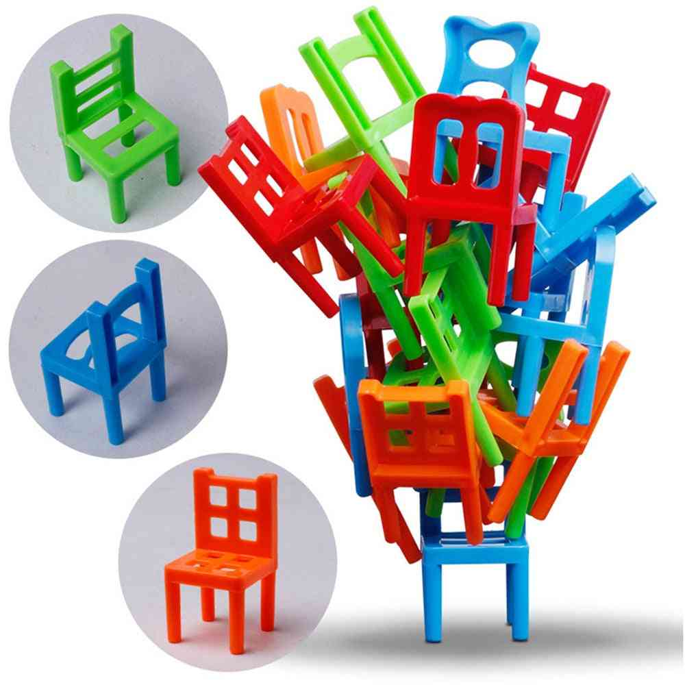 New Family Board Balance Stacking Chairs Office Game, Educational Toy