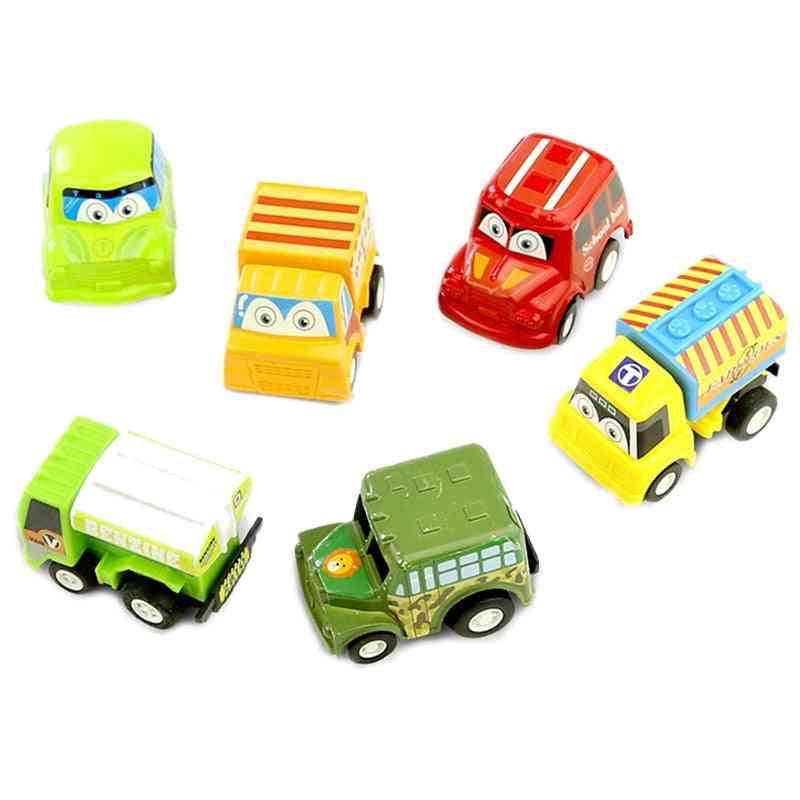 Pull Back Car, Racing Car Baby Mini Cartoon Pull Back Bus Truck