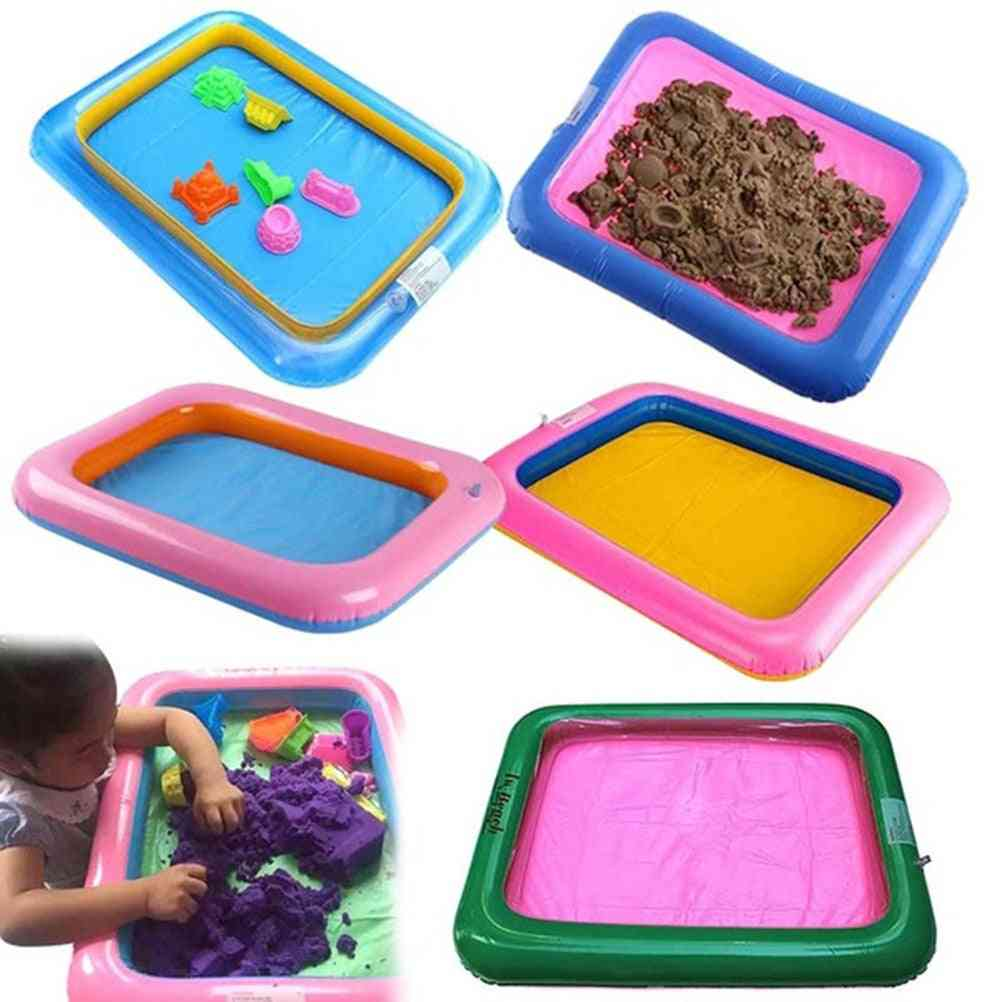 Multi Function Inflatable Sand Tray Indoor Playing Sand Clay Mud