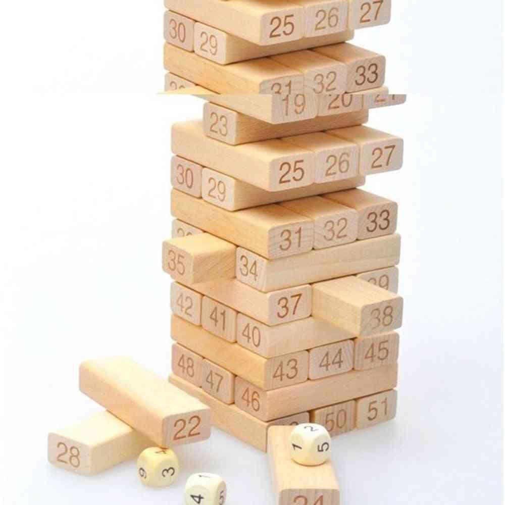 Fashion Intelligence Small Digital Layer Stacking Log Blocks Stacked Jenga Leisure Wooden