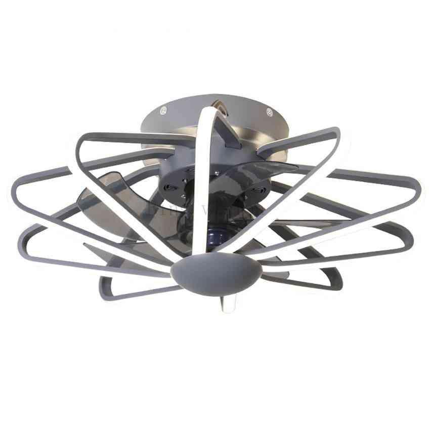 Modern Gemetric Design Ceiling Fan Lamp - Acrylic Led Lighting For Bedroom