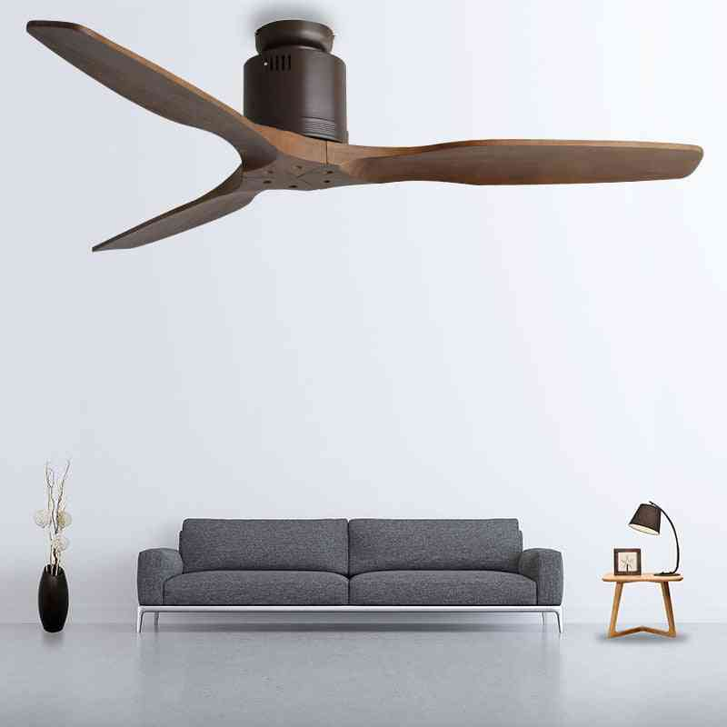 52inch Wooden Ceiling Fan Without Light With Remote Control