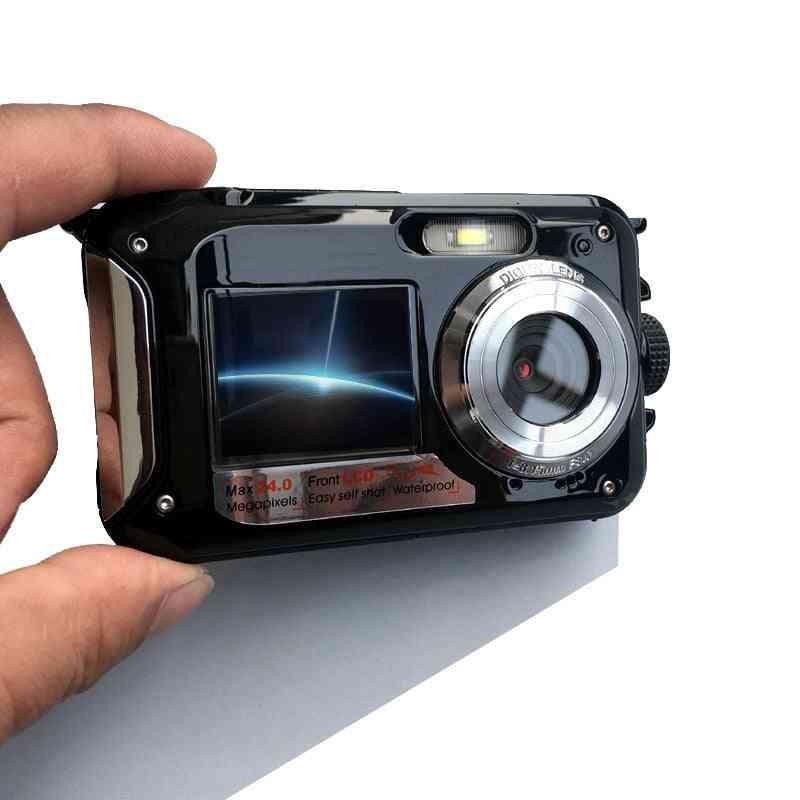 Hd 1080p 16x Zoom, Waterproof-digital Camera With Dual-screens