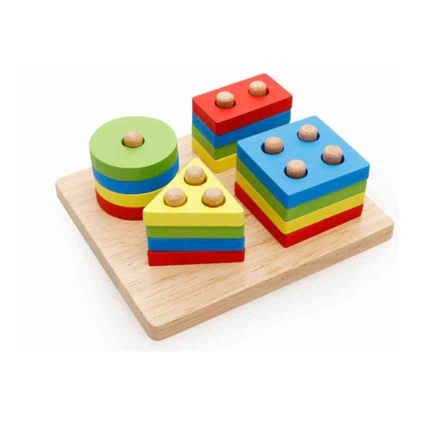 Wooden Geometry Shape-educational Intelligence For