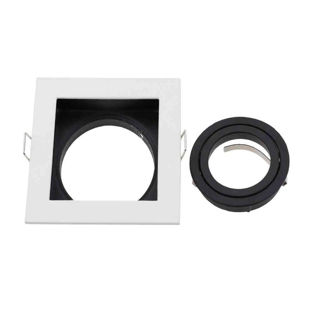 Led Ceiling Spot Light Down Fixture Square - Adjustable Frame Holder Cup