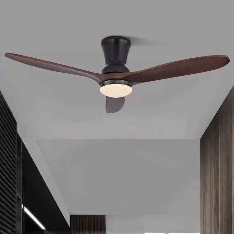 Wooden Ceiling Fan With Lights For Home And Hotels