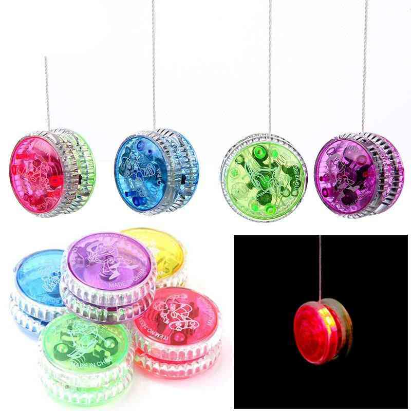 Led Flashing Yoyo With Spinning String-toys For
