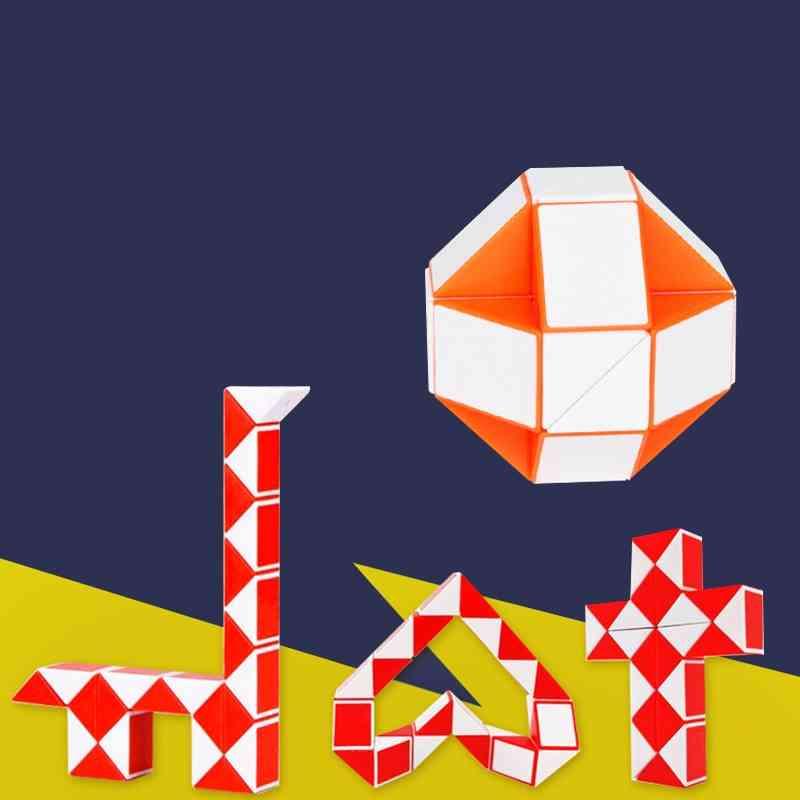 Snake Design Twisted Cube-deformation Ruler, Kidspuzzle Educationaltoy