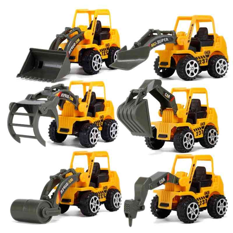 6 Styles Engineering Construction Vehicle-excavator Model For