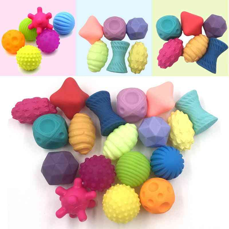 Cute Shape Design, Soft Rubber Textured, Multi-sensory Tactile Ball Toy For Infants