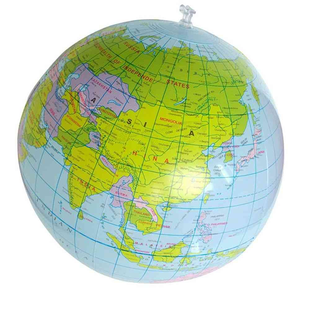 Inflatable World Globe Teach Education Geography Toy