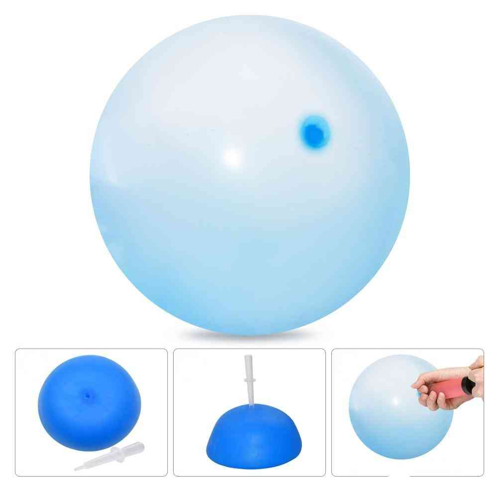 Soft Air Water Filled Bubble Ball, Blow Up Balloon Toy