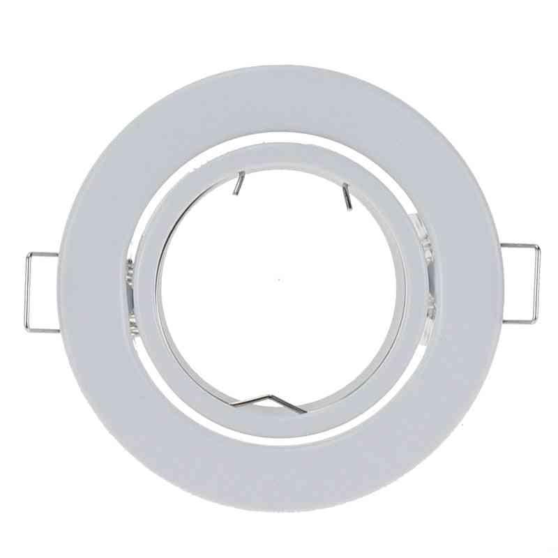 White Round Surface Mounting Aluminum Frame