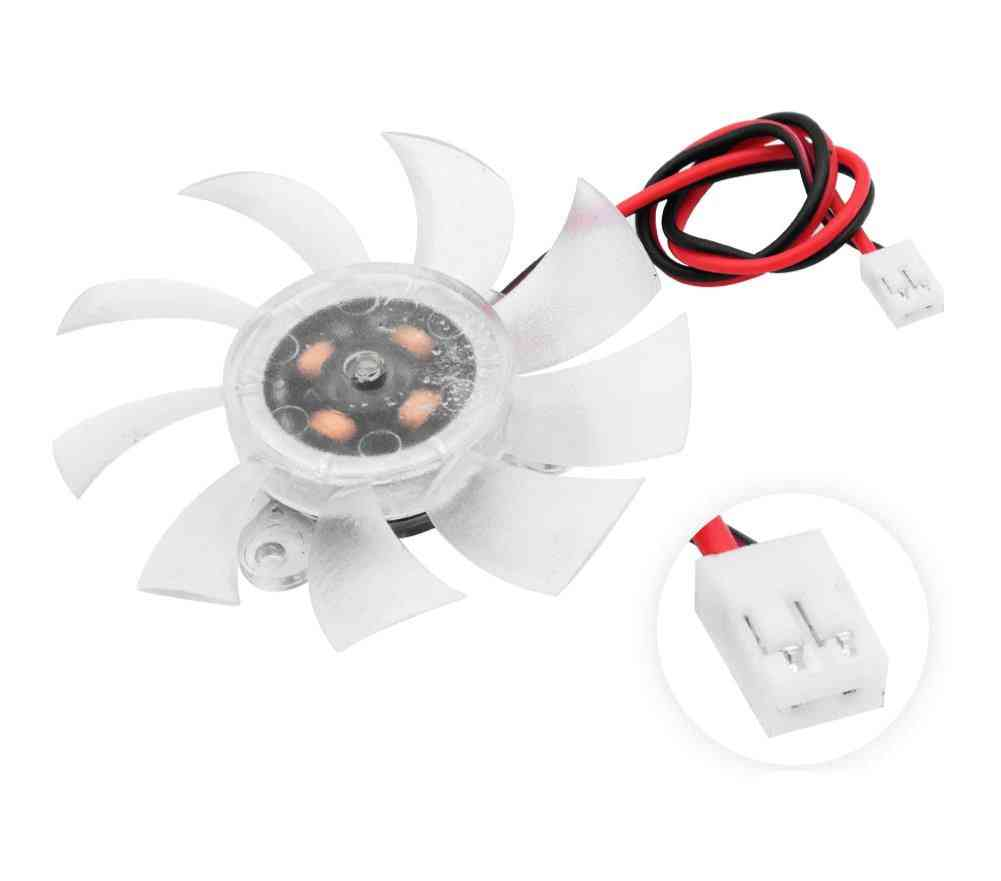 Clear Plastic Cooling Fan With 2 Pin Connector For Video Card