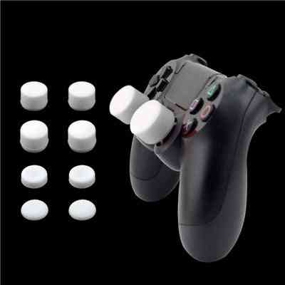 8pcs Silicone Analog Thumb Stick Joystick Grips For Playstation -replacement Parts