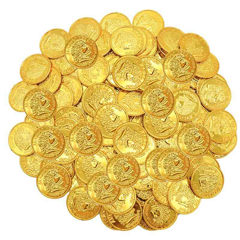 100pcs Pirates Gold Coins Props Game Accessary