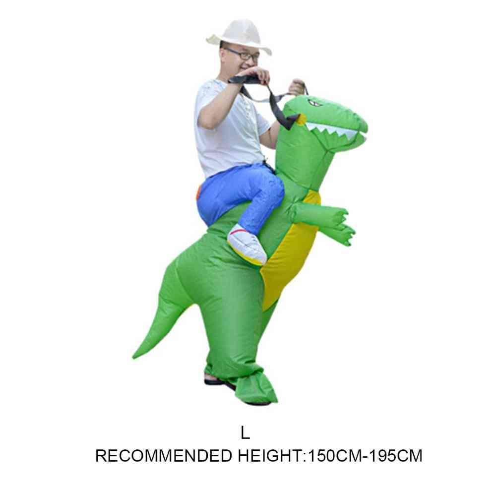 Inflatable Animal Dinosaur Halloween Party Costume - Three Dimensional Rideable Dinosaur Mount Dress