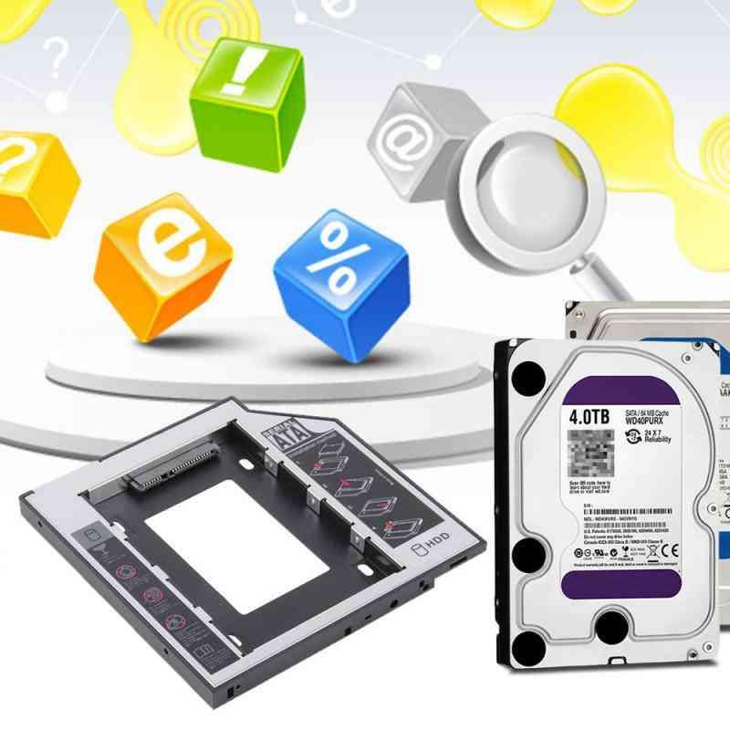 Aluminum Optibay Sata 3.0 Hard-disk Drive Box Enclosure Dvd Adapter