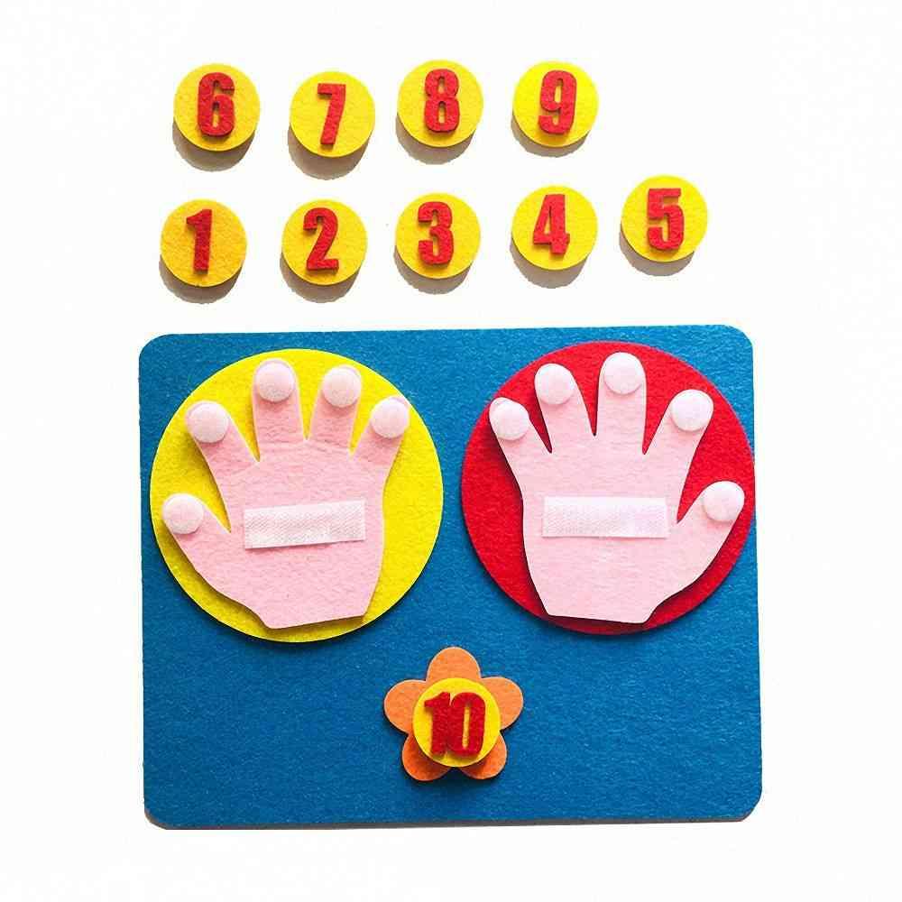 Set Of Handmade Felt Finger, Numbers-math Toy-teaching Aids
