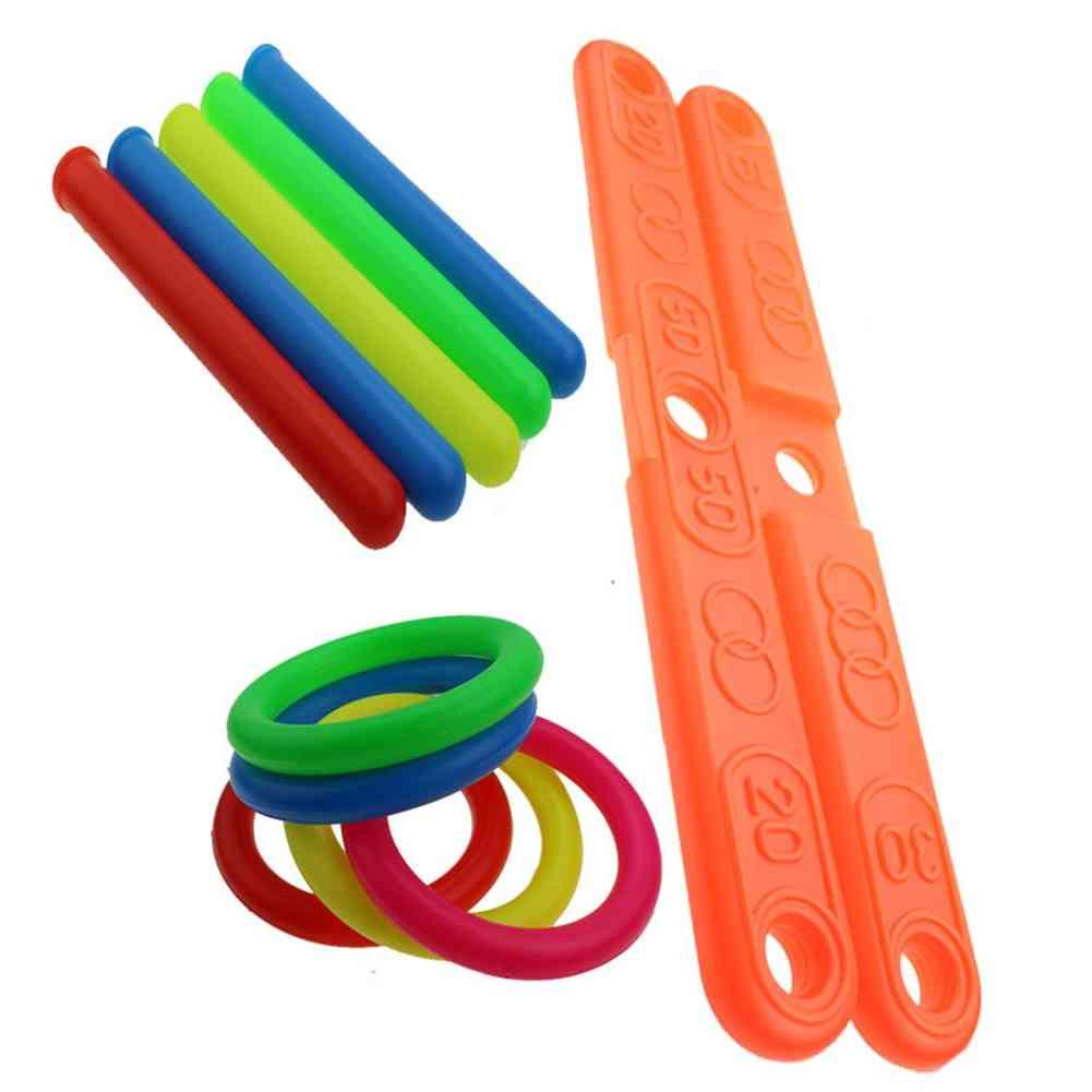 Outdoor Sports Hoop Ring Toss Quoits Toy - Cross Garden Games Pool For