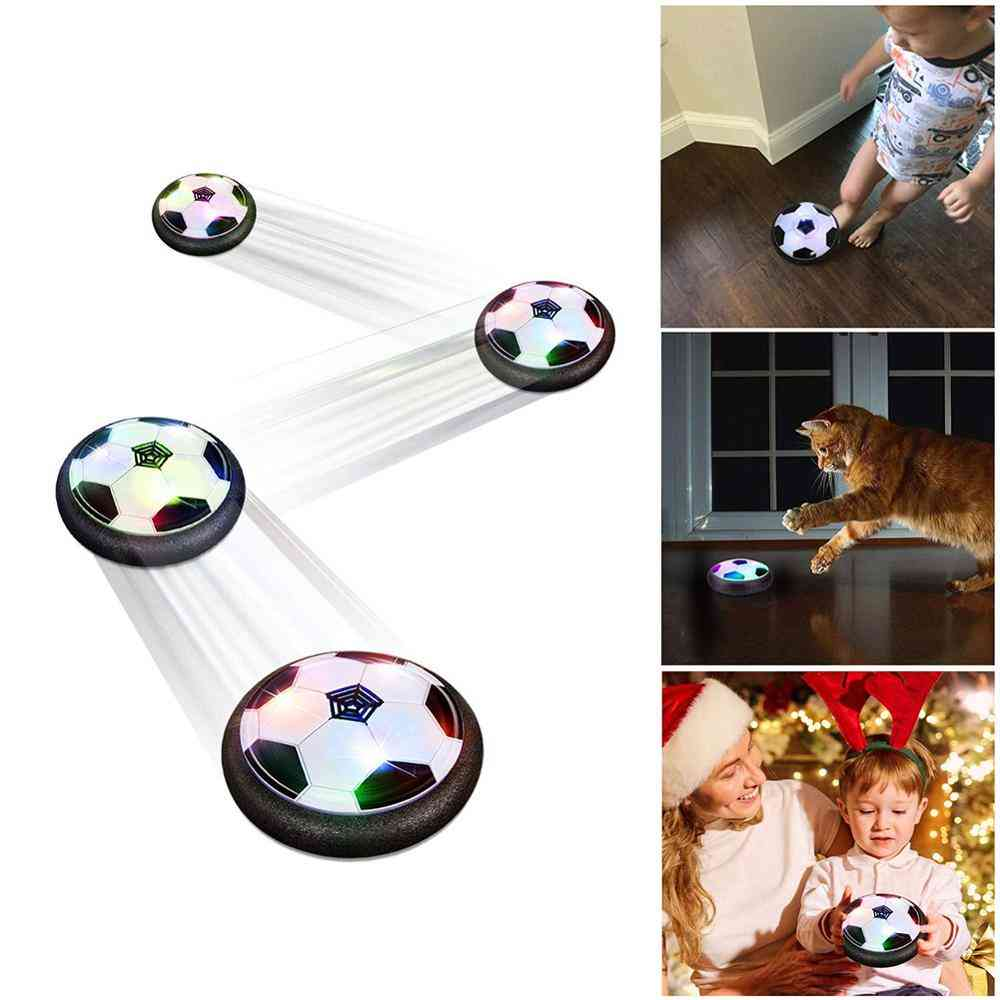 Hovering Football Mini Toy, Ball Air Cushion Suspended Flashing- Sports Fun Soccer