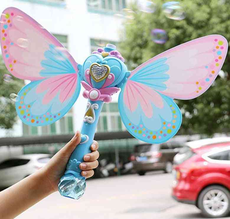 Butterfly On Stick, Electric Bubble Blower Machine With Music