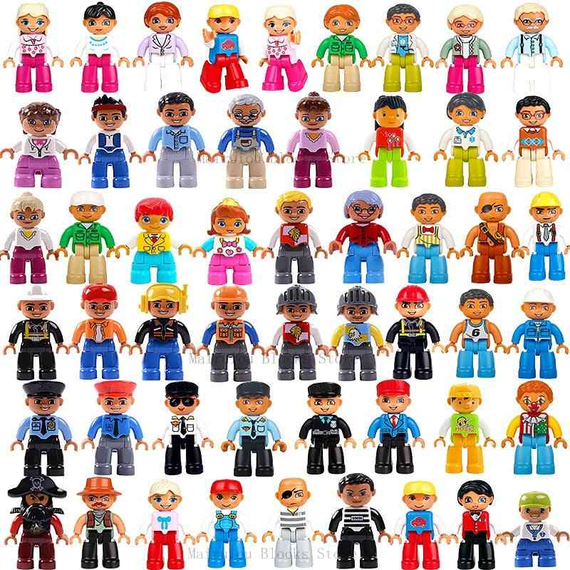 Duplo Action Figures- Building Block Compatible With Lego