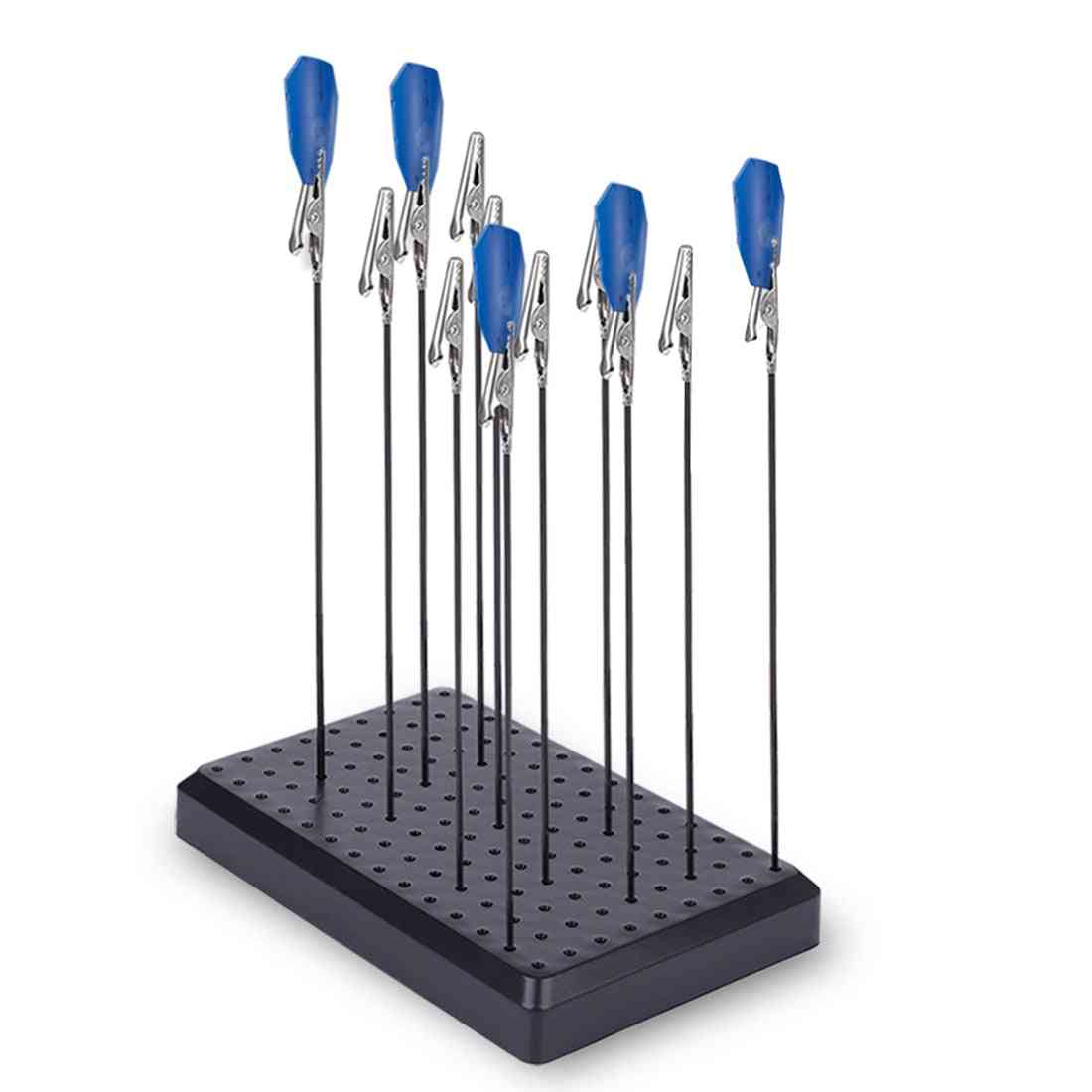 Alligator Clip With Metal Pole And Stand Base-building Tool Sets