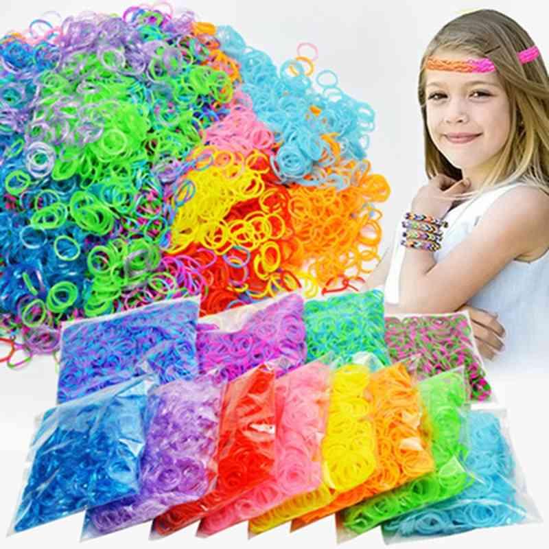 Rubber Loom Bands Diy - Lacing Bracelets Hair
