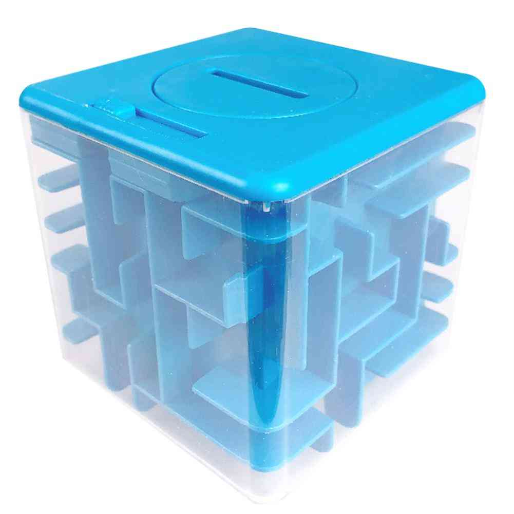 3d Maze Magic Cube Transparent - Six Sided Puzzle Speed Rolling Ball Toy