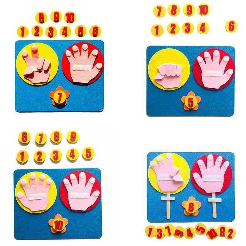 Montessori Mathematical Toy Teaching - Hand Shape