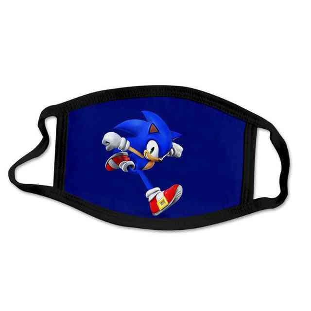 Super Sonic, Windproof & Dustproof - 3d Printing, Washable Cartoon Mask