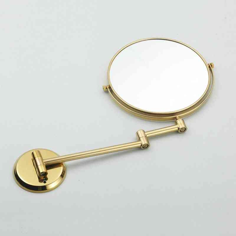 Double Side Bathroom Folding Brass Shave Makeup Mirror