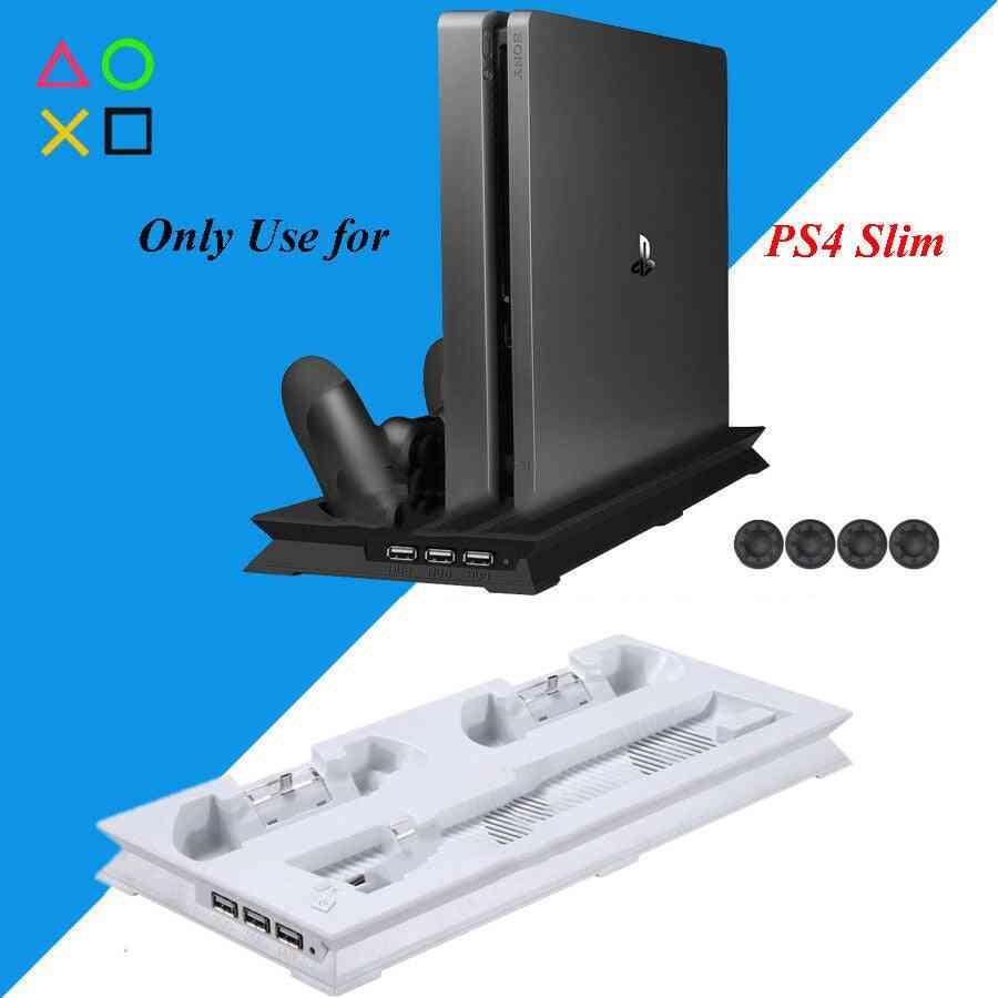 Vertical Stand Cooling Fan Cooler & Dual Usb Charger Charging Dock