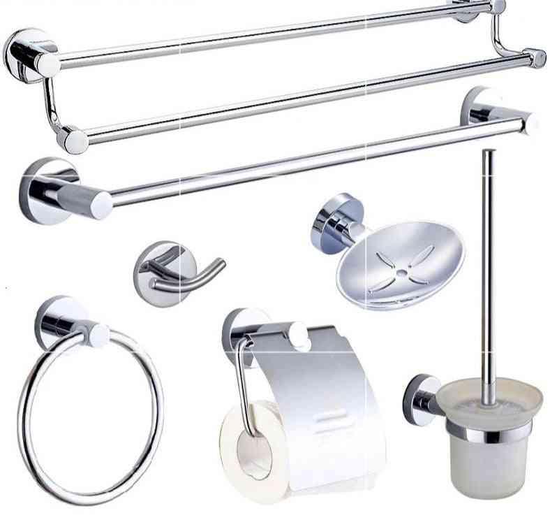 Stainless Steel Bathroom Robe Hook, Paper Holder, Towel Bar Accessories