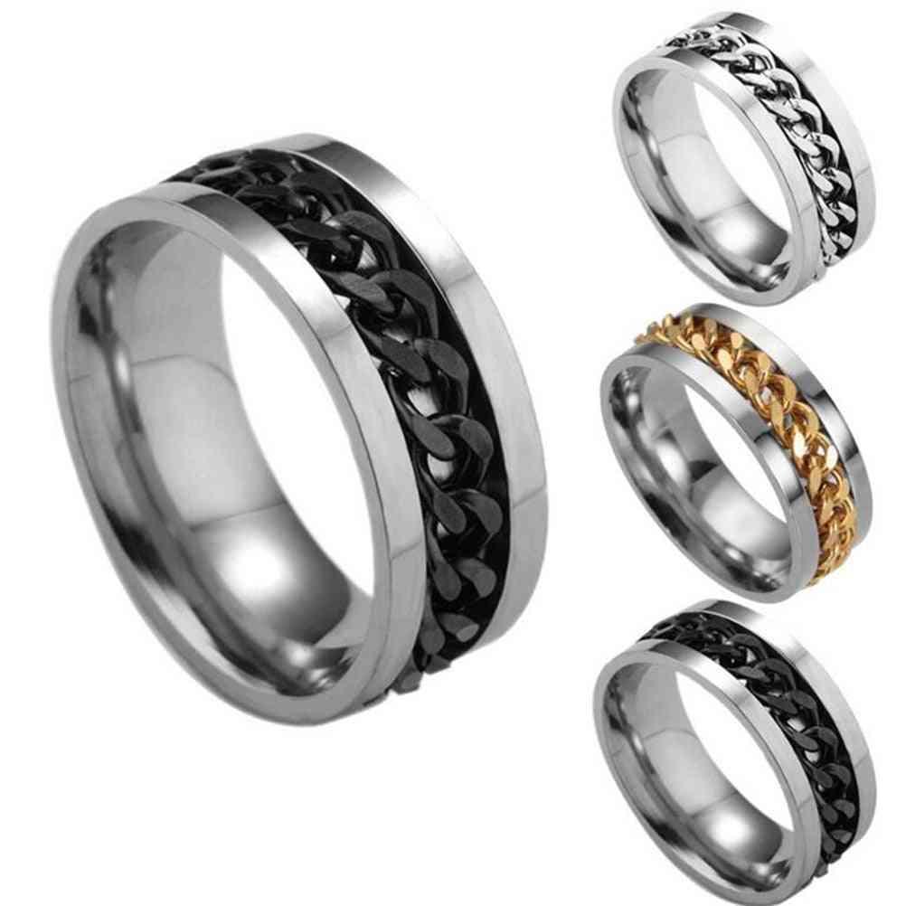 Stainless Steel Finger Fidget-spinner Ring Toy