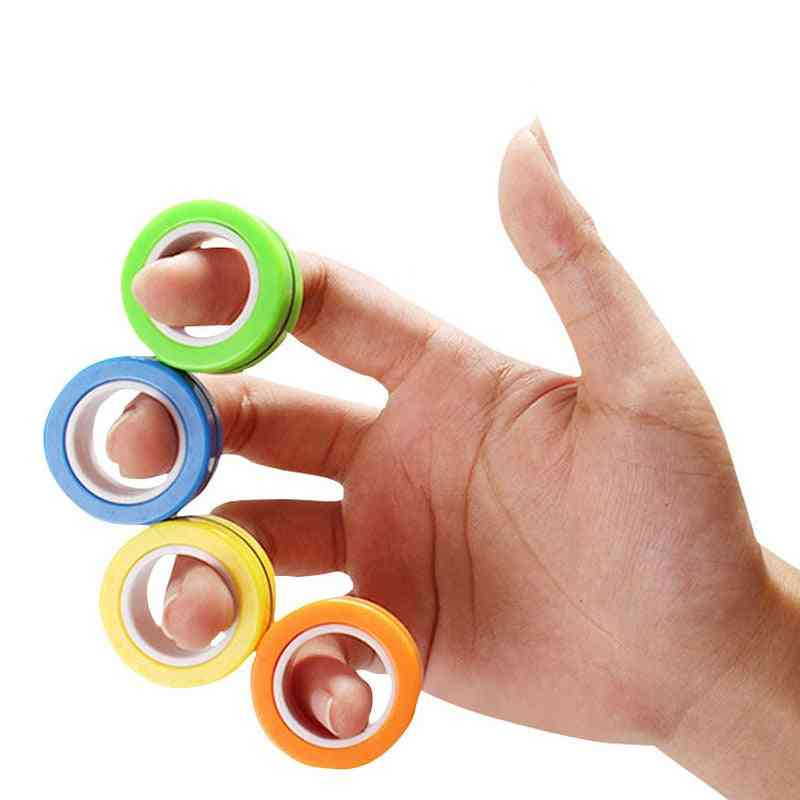 3pcs/set Magnetic Anti Stress Relief Ring For Autism, Anxiety Relief