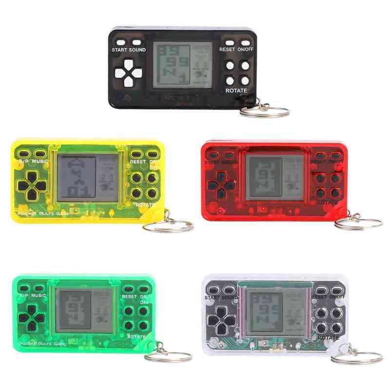 Mini Classic Lcd Tetris Game Keychain - Handheld Nostalgic Console Kids Toy