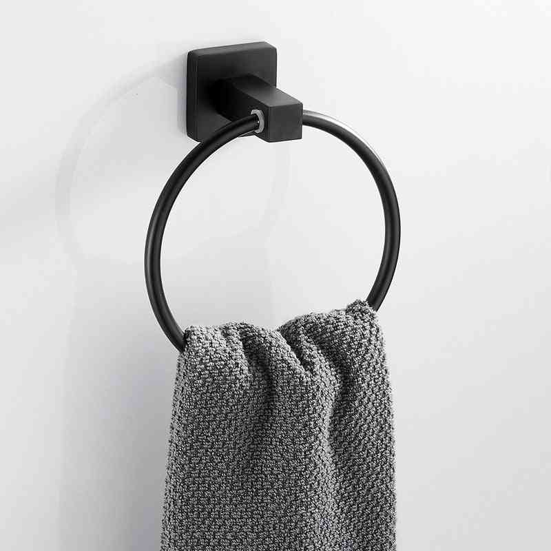 Wall Mounted Holder Round  Ring - Hand Towel Rack