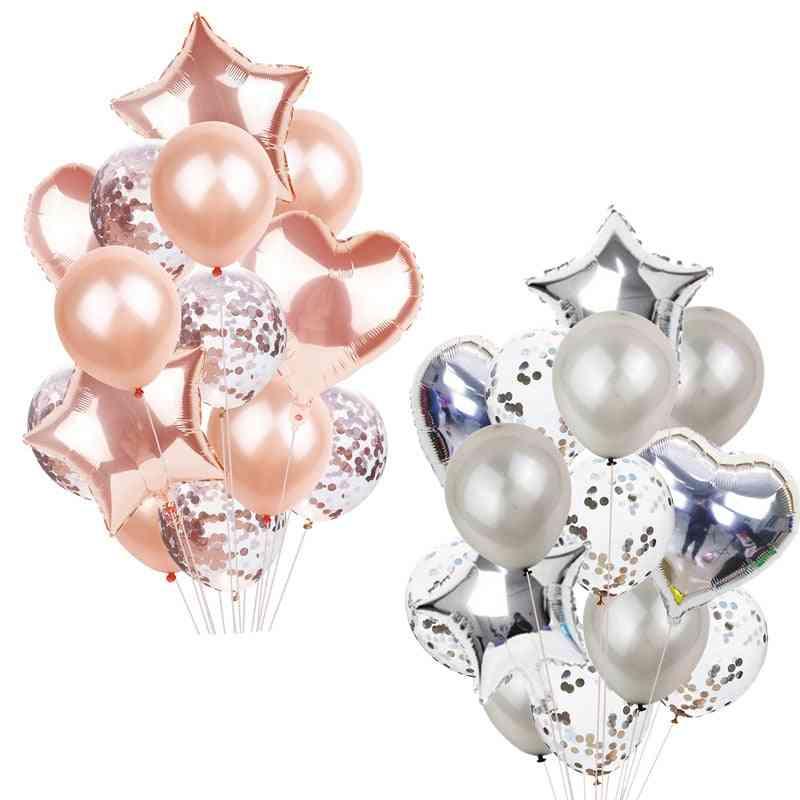 Multi Confetti Happy Birthday Party - Helium Ballons