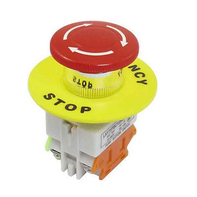Emergency  Stop Latching Push Button Switch For Automati Control Electric Circuits