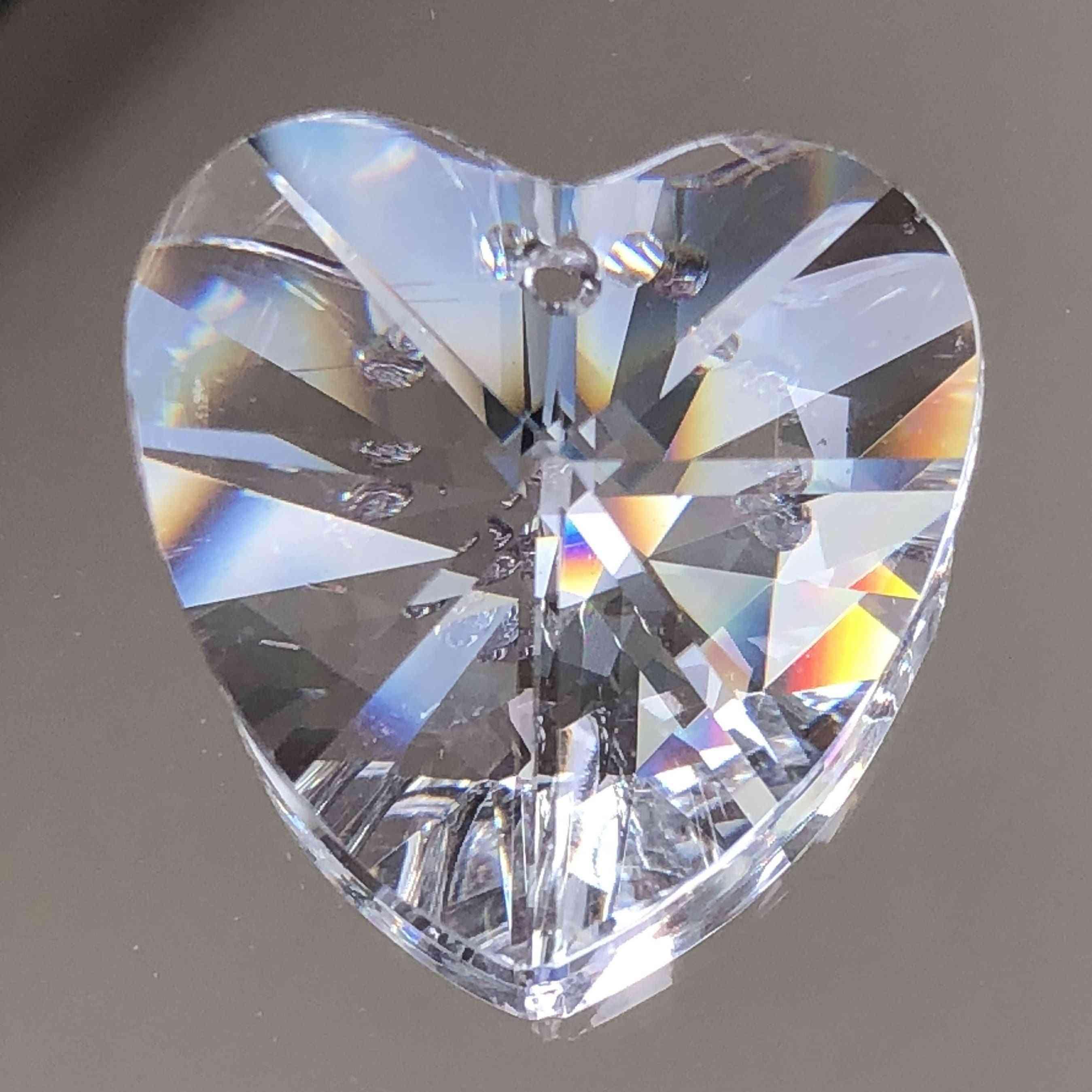 45mm Heart Shape Crystal Prisms For Diy Chandelier Hanging, Pendant, Suncatcher, Glass Art, Home Decor