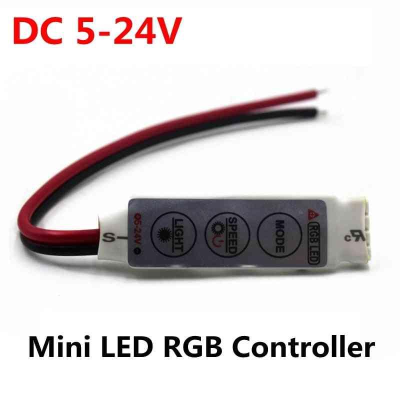 Mini 3 Keys Led Rgb Controller, Dimmer Driver For Rgb 5050/3528/2835/5730/5630/3014 , Smd Led Strip Lights