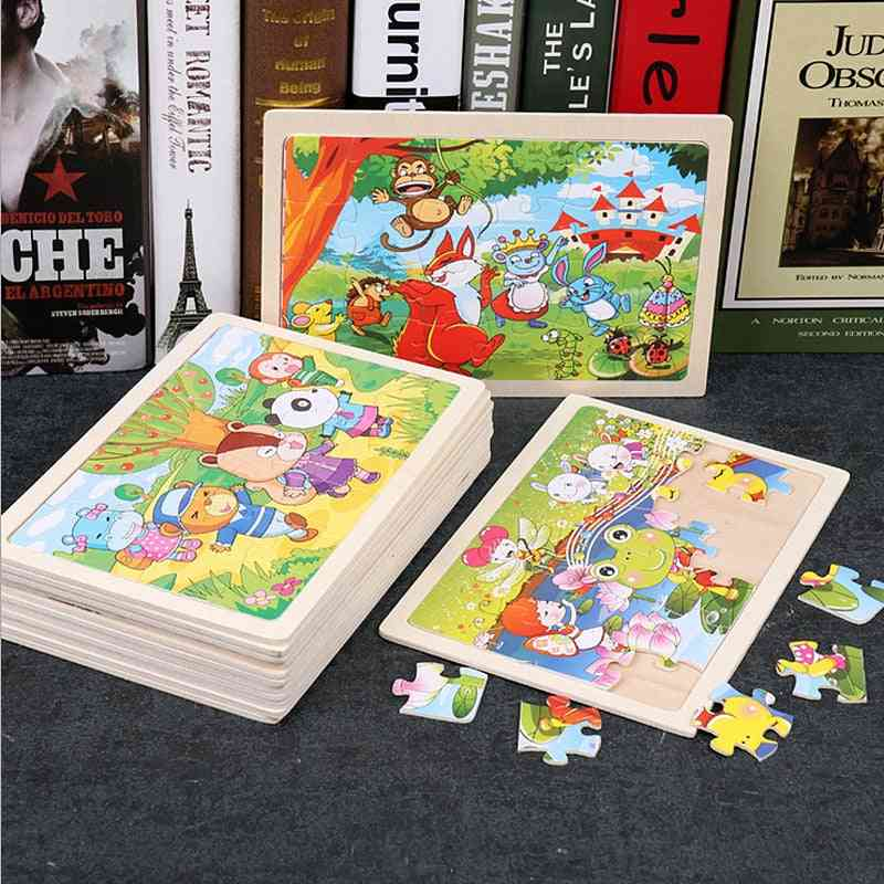 Cartoon Wood Puzzles - Educational Learning For