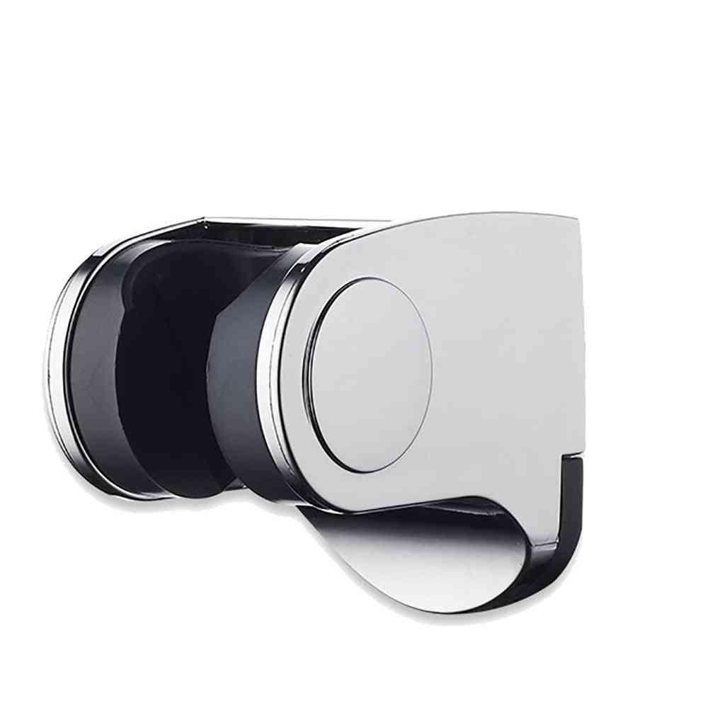 Shower Head Handset Holder - Chrome Bathroom Wall Mount Adjustable Bracket